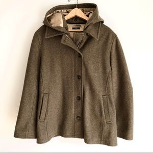 J. Crew Olive Green Wool Utility Peacoat Jacket